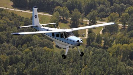 The Courier bushplane in its natural environment