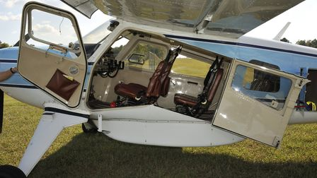 Huge double door on the port side opens up to give access to the pilots' seats and cabin