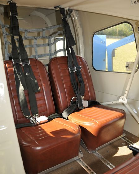 JAARS has fitted upgraded seats - note the exposed fuselage frame tubes