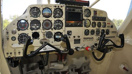 Courier panel is very 'period' old-fashioned analogue instruments dominating