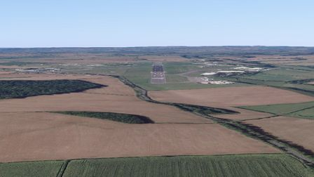 With great visibility, this is what an IFR approach to Runway 26 at Cotswold Airport would look like