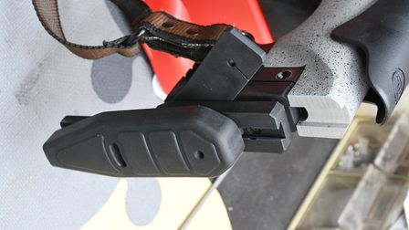 Recoil pad adjustability and length of pull spacers, which are included with the rifle