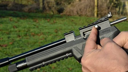 The VMX features a solid bolt action.