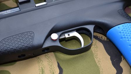 The latest Stoeger XM1 sports a neat trigger that can slide along the mounting rail
