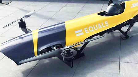 Styled on a 1950s Grand Prix car, the Airspeeder Mk II was a scaled down prototype of a manned racin