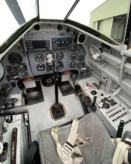 Invincible's cockpit had been refitted with modern US instruments and avionics, the controls all rem
