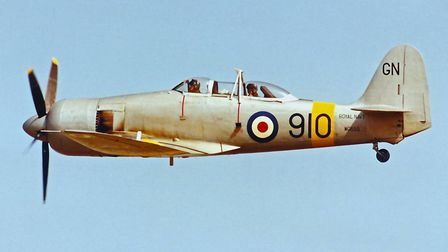 The Sea Fury as operated by the Royal Navy Historic Flight, fitted with its original Bristol Centaur