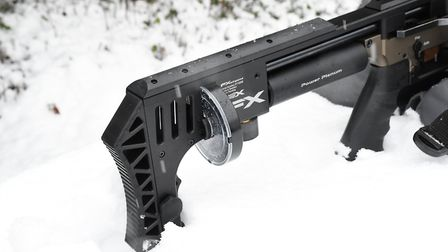 28 round magazine for pretty much a right-hander only rifle