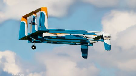 Amazon's drones are expected to carry a load of five pounds of weight and have a range of fifteen mi