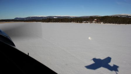 Takeoff from Vemhåns lake