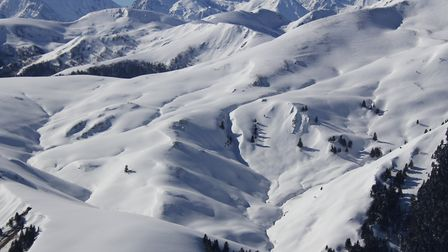 A typical winter landscape in the Pyrénées