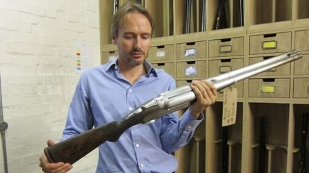 The .700/.577 Nitro Express is about as big as they come these days. Westley Richards will build you