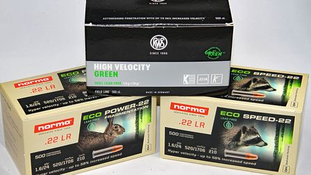 RWS High Velocity Green, Norma Eco-Speed and Eco-Power are all made in Germany and 100%lead free