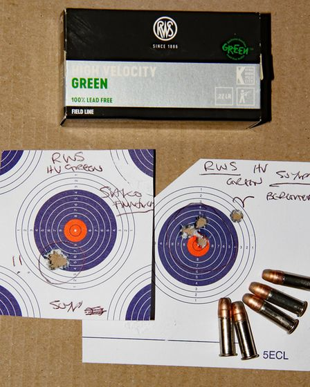 The Sako Finnfire custom loved the RWS HV Green but target on right shows that with a lot of the tar