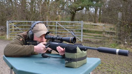 TacRest set up for zeroing. It's light and easily portable for use on the range or over land