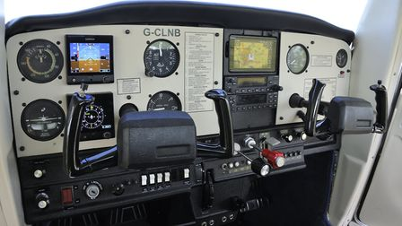 The panel is a mixture of traditional analogue and modern 'glass' from Garmin
