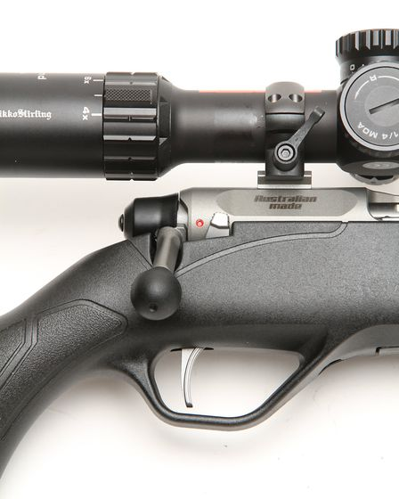 Good trigger and safety along with an integrated trigger guard and short straight bolt make operatin