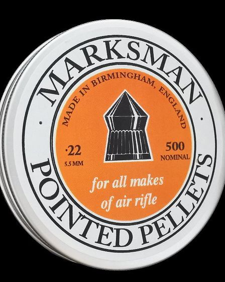 Marksman host an array of round-head and pointed pellets, covering calibres of .177, .22, and .25