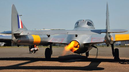 Typical fiery engine start - watch you do not melt the tarmac!