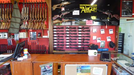 A well stocked gun shop – can be very enticing