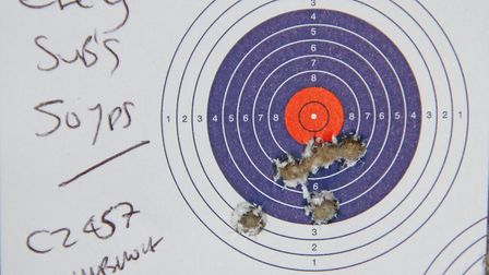 Out at 50 yards the Eley`s shot very well, as did the Norma`s and Win 42br Max loads, fliers were me