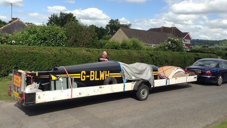 Trip one - picking up the Fournier RF6B fuselage and numerous other parts