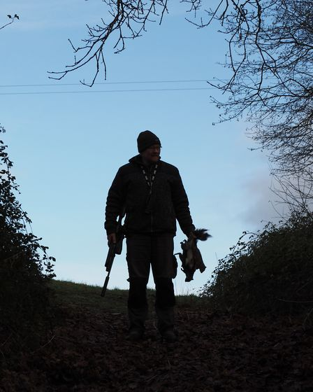 The great white hunter came over the hill like a film star