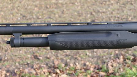Mossberg Mossberg uses the superior twin bar configuration for its pump gun, rather than the a sing