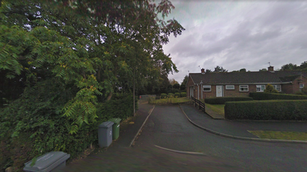 The path running between Elizabeth Avenue and Highfield Close where reports of ASB have been reported.