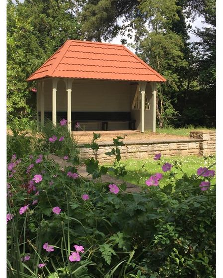 The new shelter which has been rebuilt in Nicholas Everitt Park, Oulton Broad.