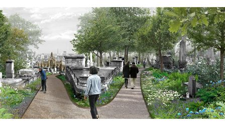 Designs of how Highgate Cemetery could take shape to boost its biodiversity