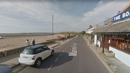 Marine Parade in Instow where residents' parking is set to be introduced