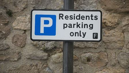 File picture of a Residents Parking sign