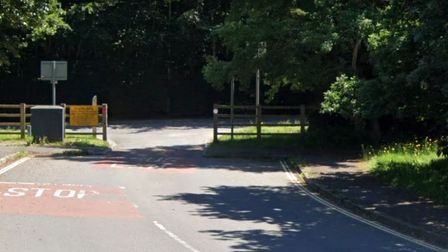 The bus gate in Gratton Way which would be closed and opened up to traffic