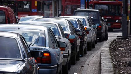 A stock image of traffic