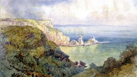 Watercolour of Anstey's Cove from 1860 (PR5397)
