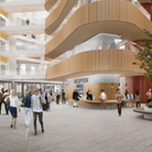 An artist's impression of the new Oriel eye centre, which is to be built on the site of St Pancras Hospital in Kings Cross