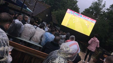 Heavy rain was also seen when England played Scotland in the Euros.