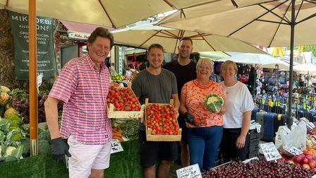 The Read family who run Mike, Debs and Sons on the Norwich Market