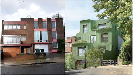 What 18A Frognal Gardenslooks like now (left)- and what it will become (right)