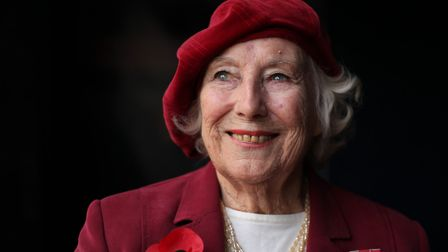 Forces sweetheart Dame Vera Lynn poses for photographs in central London, on October 22, 2009. Pictu