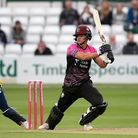 Will Smeed in batting action for Somerset in theVitality Blast T20