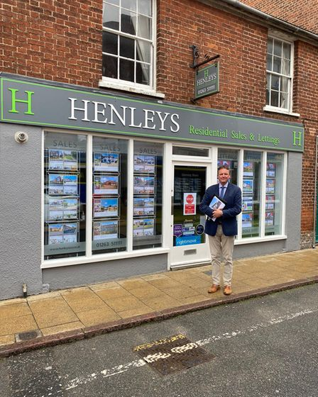 Jeff Cox, co-director and owner of Henley's estate agent which specialises in North Norfolk property