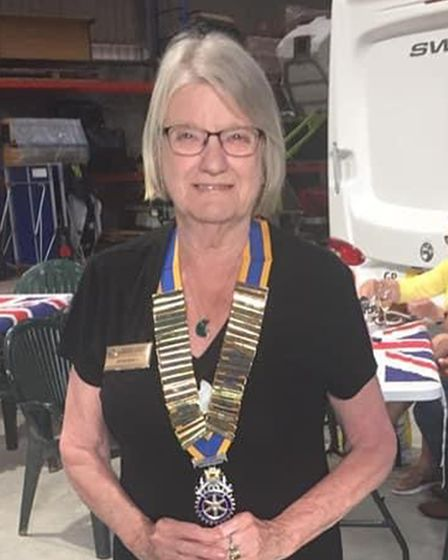 Joan Baily, incoming president of the Rotary Club of Tormohun