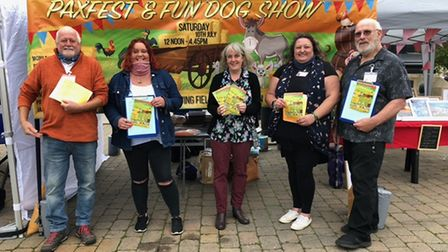 A stall was held on St Neots Farmers' Market to promote the Paxtfest event on July 10.