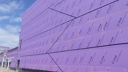 Insulation on the exterior of the new Marina Centre
