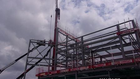 The frame of the new Marina Centre.