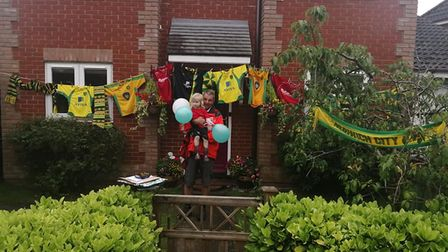 David Pike on his final round, at a home decorated with Norwich City shirts
