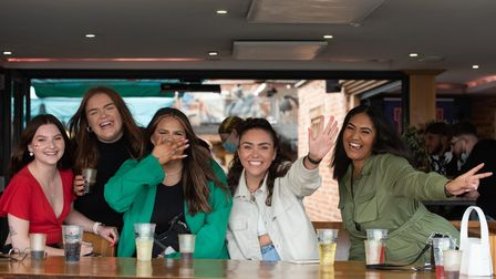 Lauren McMamee, Molly Richards, Chloe Parkin, Cherie Harper and Emily Berrimen getting excited for t