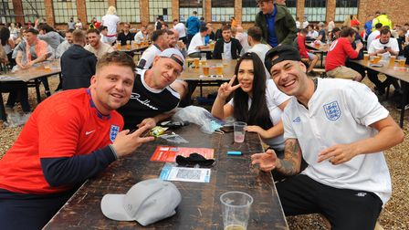 Fans getting ready for the England v Ukraine match at The Arena in Sprowston. Picture: Danielle Bood